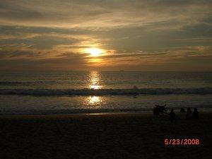 La puesta de sol en Vina del Mar, Chile
