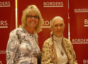 Mrs. Augsbach and Jane Goodall