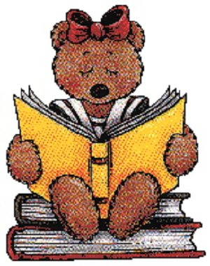 Teddy with book